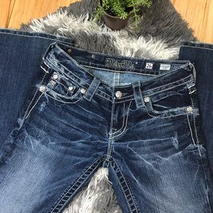 Miss Me Distressed Blue Jeans Size 26 Brand New!